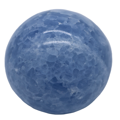 Blue Calcite Sphere Sphere - Hekatos Healing Crystals and Spirituality Supplies
