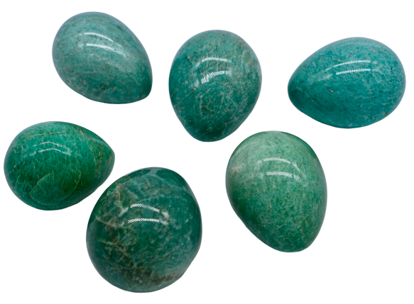 Amazonite Egg Egg - Hekatos Healing Crystals and Spirituality Supplies