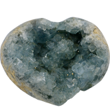 Celestite Heart Geode (Large) Crystal Cluster - Hekatos Healing Crystals and Spirituality Supplies