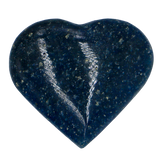Lazulite Heart Heart Stone - Hekatos Healing Crystals and Spirituality Supplies