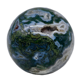 Moss Agate Sphere (Choose Yours) Sphere - Hekatos Healing Crystals and Spirituality Supplies