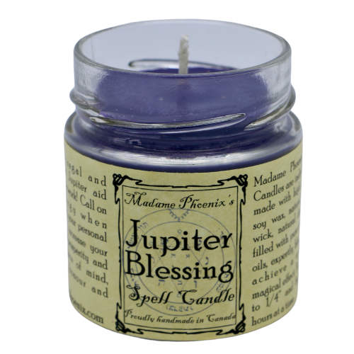 Jupiter Blessing Candle Candle - Hekatos Healing Crystals and Spirituality Supplies