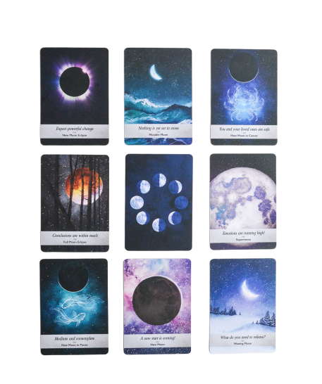 Moonology Oracle Deck Oracle Deck - Hekatos Healing Crystals and Spirituality Supplies