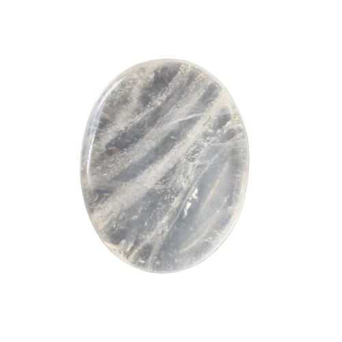Clear Quartz Worry Stone Worry Stone - Hekatos Healing Crystals and Spirituality Supplies