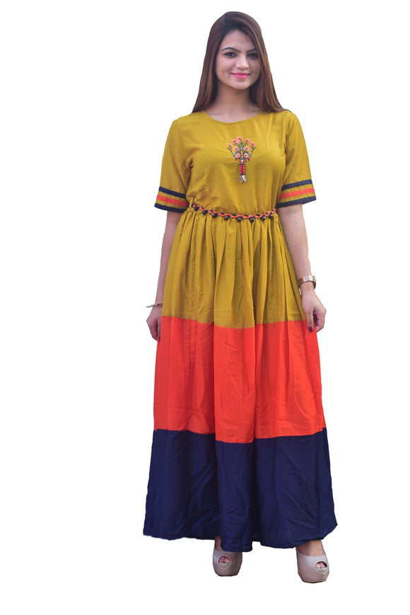 Signature Kesavi silk multicolor straight kurta