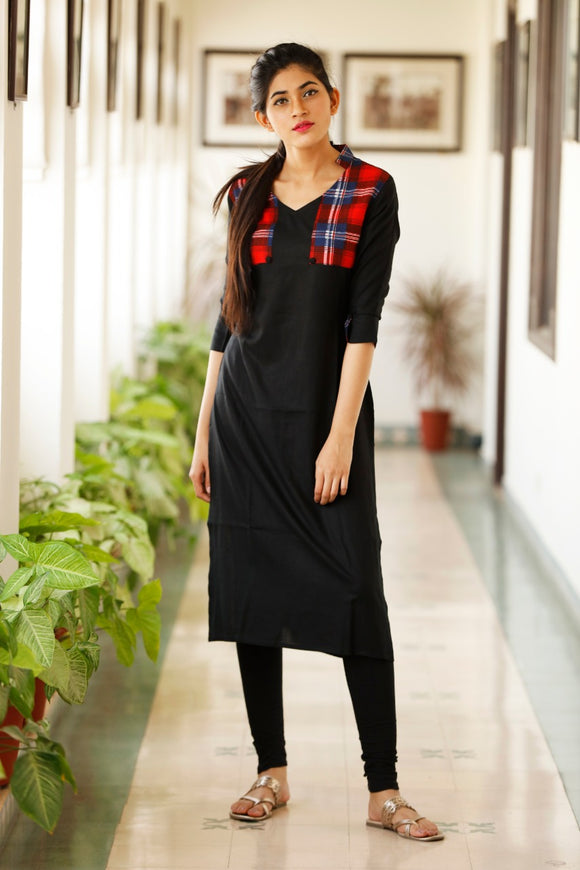 Signature Kesavi black cotton kurti