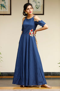 Signature Kesavi blue cotton kurti