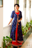 Signature Kesavi iconic blue red kurti