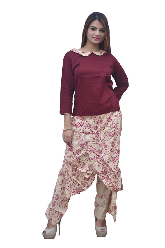 Signature kesavi rayon dhoti style palazzo with crop top