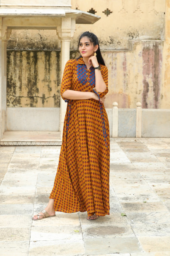 Signature Kesavi multi colour rayon casual wear kurti