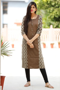 Signature Kesavi coffee cotton kurti
