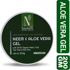 NutriGlow Advanced Organics Neem & Aloe Vera Gel _200 GM