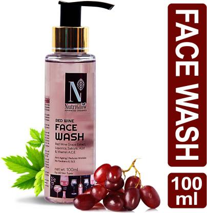 NutriGlow Advanced Organics Red Wine Face Wash _100 ML