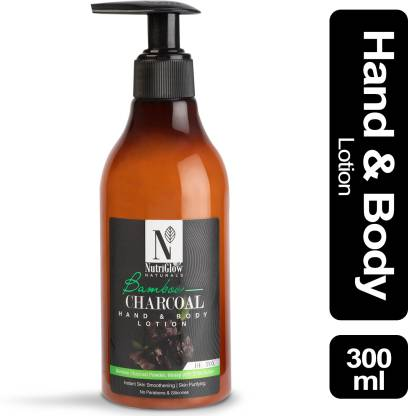 NutriGlow Natural's Bamboo & Charcoal Hand & Body Lotion _300 ML