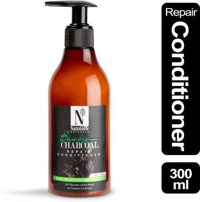 NutriGlow Natural's Bamboo & Charcoal Repair Conditioner _300 ML