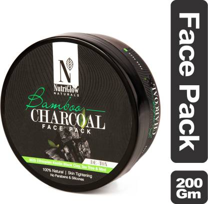 NutriGlow Natural's Bamboo & Charcoal Face Pack _200 GM