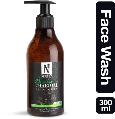 NutriGlow Natural's Bamboo & Charcoal Face Wash _300 ML