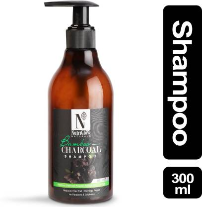 NutriGlow Natural's Bamboo & Charcoal Shampoo _300 ML