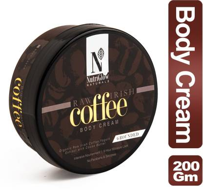 Nutriglow Natural's Raw Irish Coffee Body Cream_200 GM