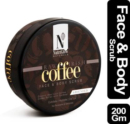 Nutriglow Natural's Raw Irish Coffee Face & Body Scrub_200 GM
