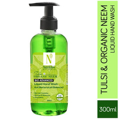 NutriGlow NATURAL'S Bio Advanced Tulsi & Organic Neem Anti Bacterial Hand Wash For intense Germ Protection |Purifying Neem & Tulsi Soap|Kills 99.9% Germs/300ml Hand Wash Pump Dispenser  (300 ml)