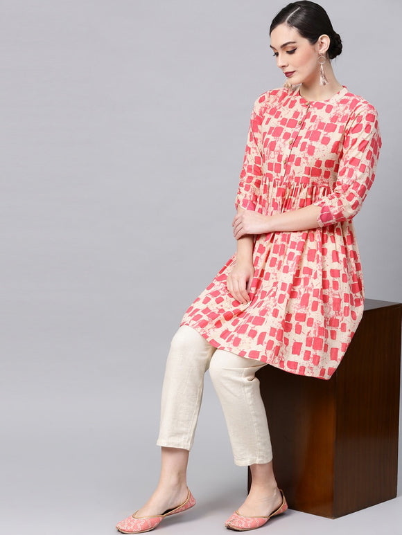 signaturekesavi-pink--cream-coloured-printed-tunic