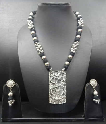 Signature Kesavi Stylish Shiva Necklace with Earrings
