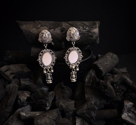 Silver Mirror Earrings