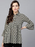 Signature Kesavi Black White Stripe Tunic
