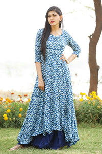 Signature Kesavi printed rayon double layer kurti