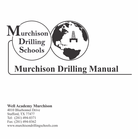 Murchison Drilling Manual
