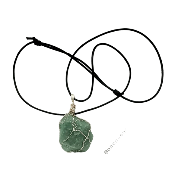 Custom Wire Wrapped Crystal Necklace