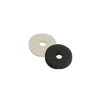 black and white felt washer for guitar strap button