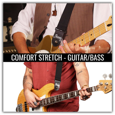 Comfort stretch elastic guitar strap for guitar or bass