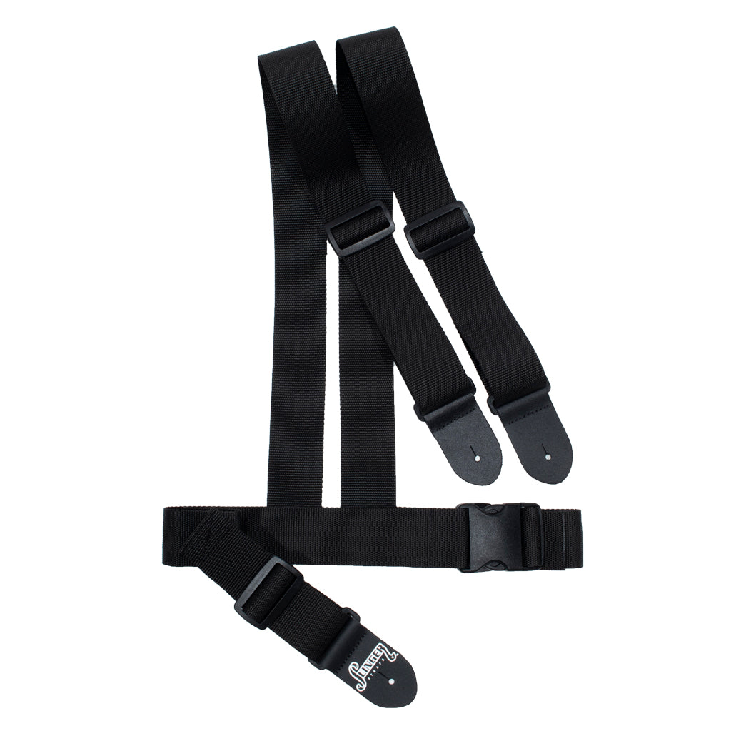 harness strap waist mount ergonomic guitar strap