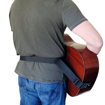 wearing the acoustic hip strap