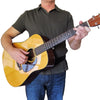 man wearing acoustic hip strap guitar strap