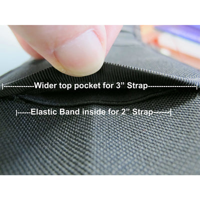 2 or 3 inch guitar strap shoulder pad channels