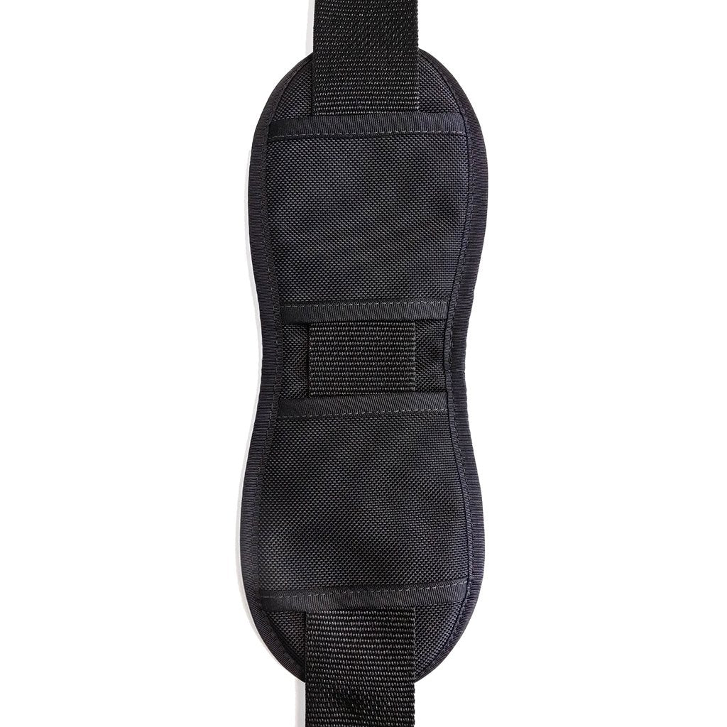 guitar strap shoulder pad made from black neoprene