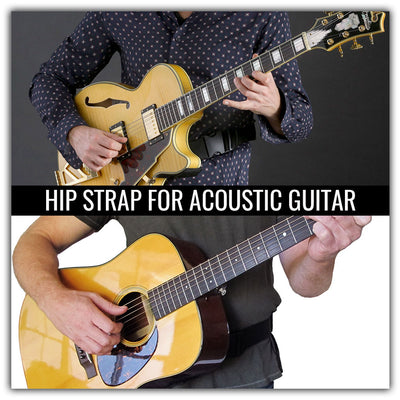 Hip strap waist guitar strap for acoustic and hollow body guitars