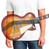 transparent les paul guitar showing hip strap waist guitar strap