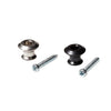 jim dunlop dual design straplok ready strap buttons in nickel and black with screws