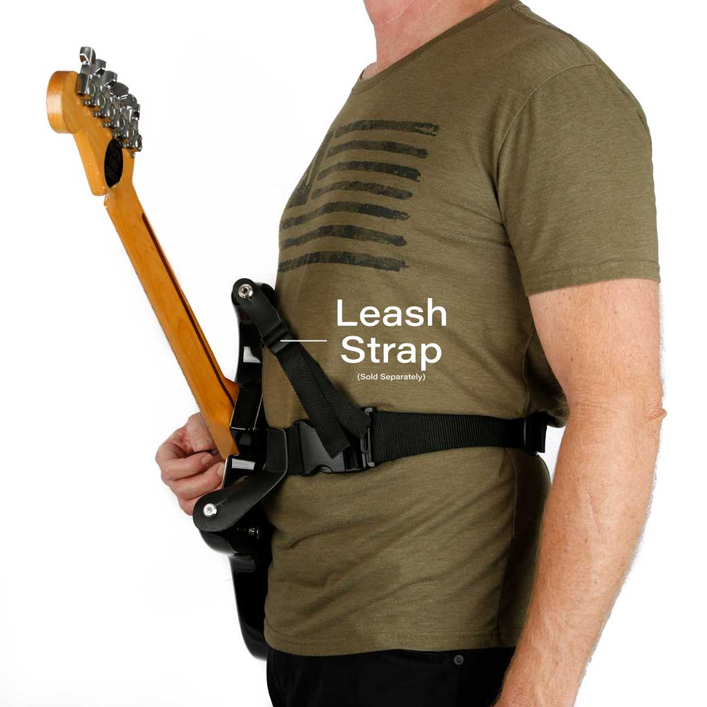 Slinger hip strap waist guitar strap with leash strap to avoid forward  guitar lean