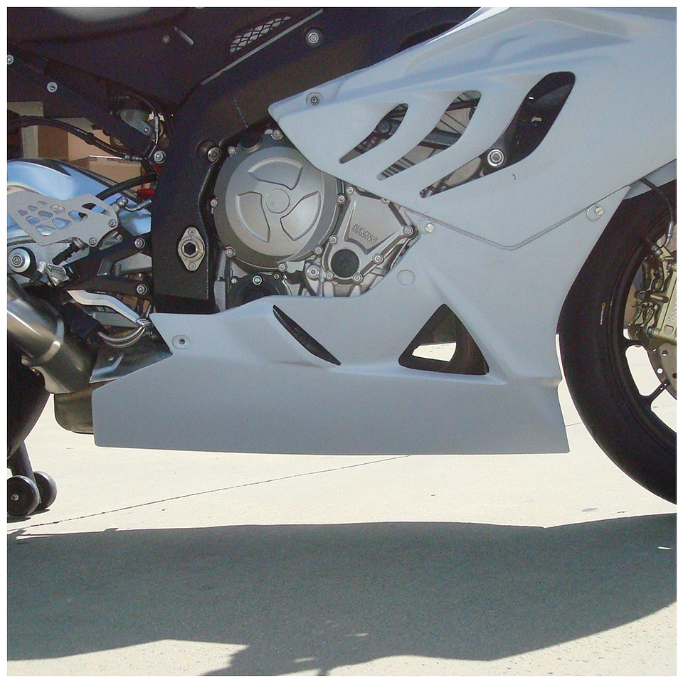 BMW S1000RR (10-14') HBR Fiberglass Race Lower - White