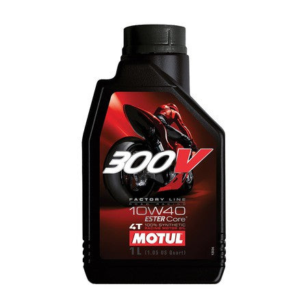 MOTUL 300V 4T COMPETITION SYNTHETIC OIL 10W-40 LITER