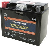 FIRE POWER FACTORY ACTIVATED SEALED BATTERY CTX12