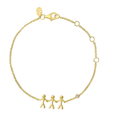 Load image into Gallery viewer, Fine - Family 3 bracelet - solid gold