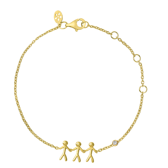 Fine - Family 3 bracelet - solid gold