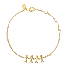Load image into Gallery viewer, Together Family 4 bracelet - solid gold