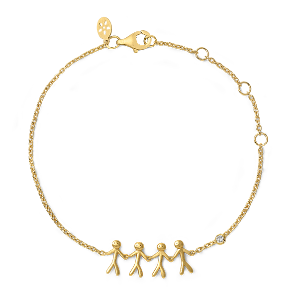 Together Family 4 bracelet - solid gold